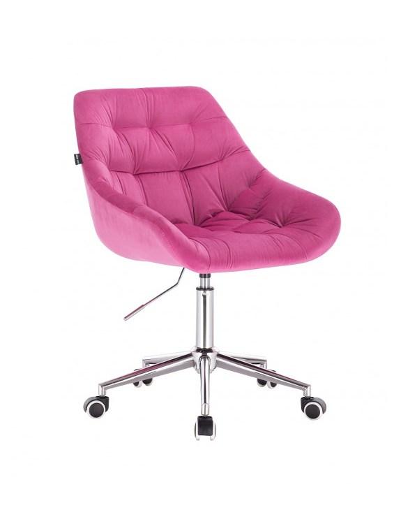 MELVIN - Krzesło kosmetyczne malinowe kółka