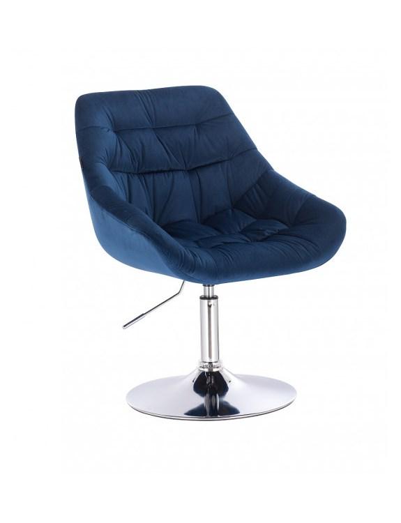 MELVIN - Krzesło kosmetyczne ciemne morze dysk