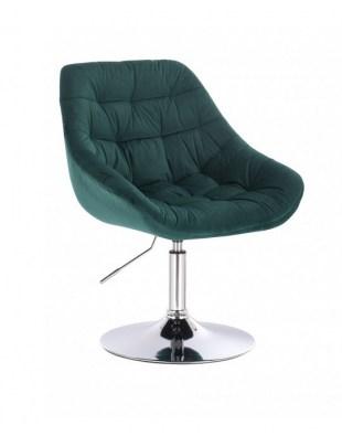 MELVIN - Krzesło kosmetyczne butelkowa zieleń dysk