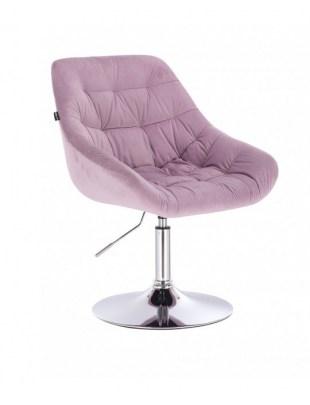 MELVIN - Krzesło kosmetyczne wrzosowe dysk