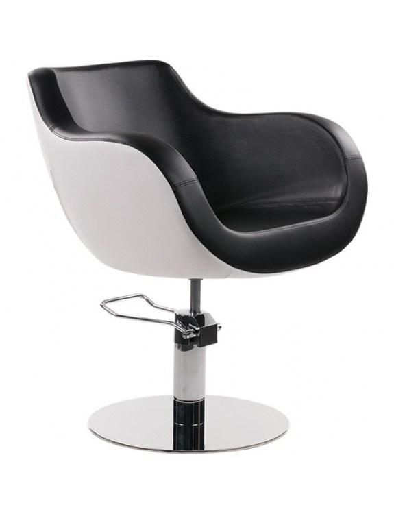 Fotel Fryzjerski Thomas - biało czarny - Ayala 48h