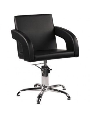 Fotel Fryzjerski Tina - baza pająk - tapicerka czarna - Ayala 48h
