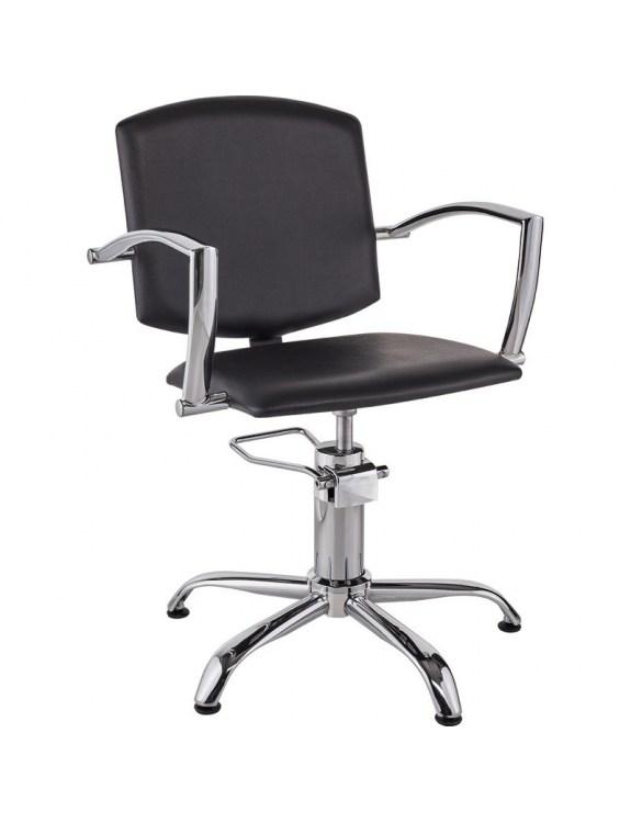 Fotel Fryzjerski Pako - tapicerka czarna - Ayala 48h