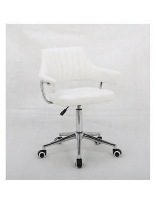 Capitol - fotel fryzjerski biały
