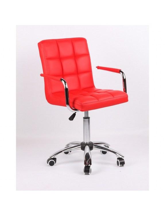 MIRACLE - fotel fryzjerski czerwony
