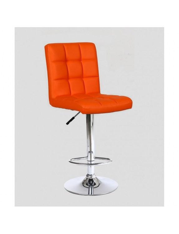 KRIS - hoker fryzjerski z podnóżkiem pomarańczowy