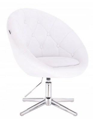 BOL - Krzesło kosmetyczne białe na krzyżaku