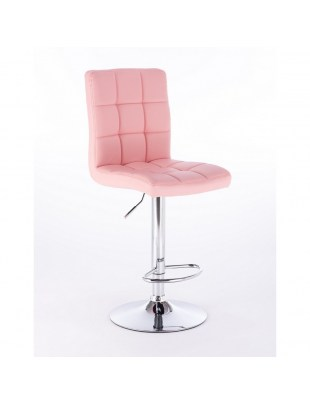 KRIS - Hoker fryzjerski / kosmetyczny taboret - różowy