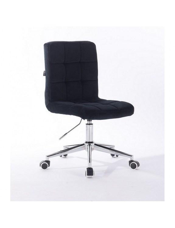 Camelia - Krzesło kosmetyczne czarny welur kołka