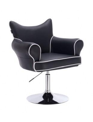 Fotel fryzjerski Czester - czarny