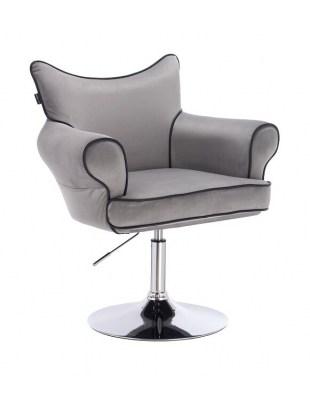 Fotel fryzjerski Czester - szary