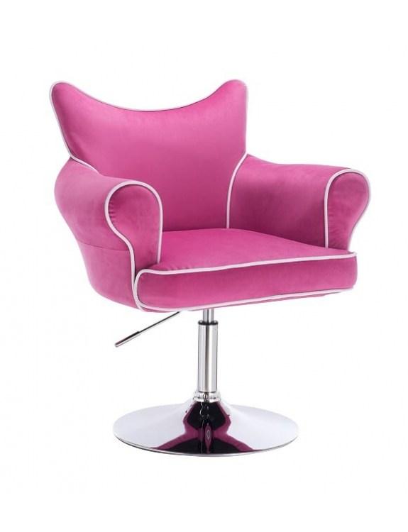 Czester - krzesło kosmetyczne malinowy materiał