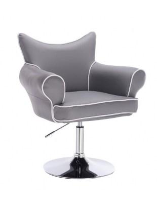 Czester - fotel fryzjerski szary