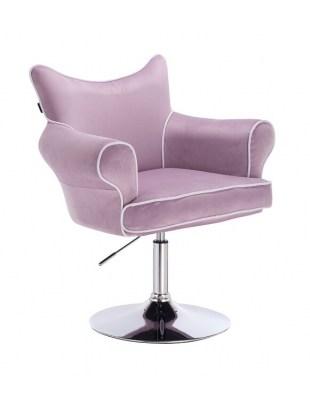 Czester - krzesło kosmetyczne wrzosowy materiał