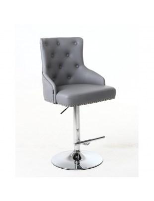 Claris – fotel fryzjerski czarna eco skóra na wysokim podnośniku