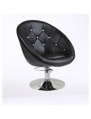 BOL LUX CRISTAL - Fotel fryzjerski czarny hydrauliczny