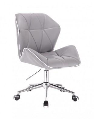 CRONO - Krzesło kosmetyczne szare kółka