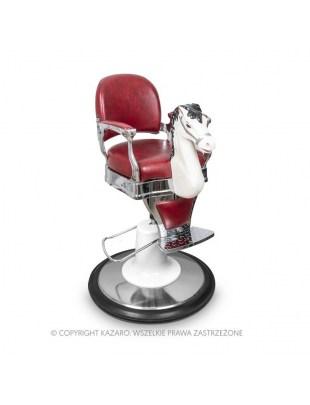 Fotel fryzjerski Dziecięcy BABY BAROK Bordowy