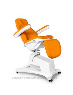 Fotel kosmetyczny QUEEN obrotowy z podgrzewaniem pomarańczowy