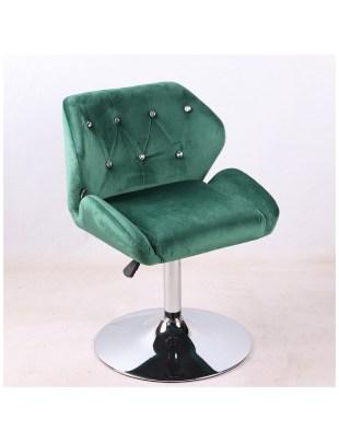 ANTONY - krzesło kosmetyczne butelkowa zieleń welur