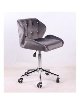 ANTONY - krzesło kosmetyczne grafitowy welur