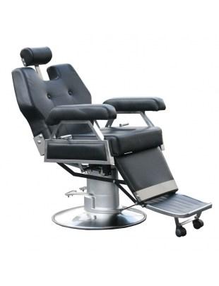 2067 - Fotel barberski - CORLEONE CZARNY, PODSTAWA 60CM