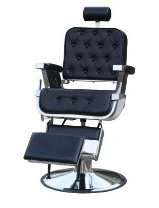 1350 - Fotel barberski retro Barber CALABRIA czarny