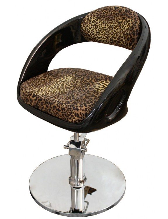1753 - Fotel fryzjerski AVELLINO Leopard-nature