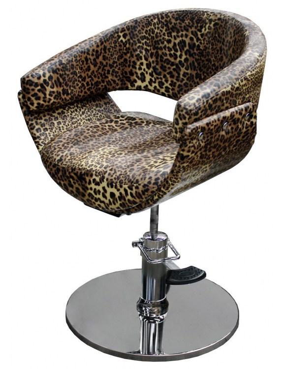1875 - Fotel fryzjerski ASCOLI Leopard-nature
