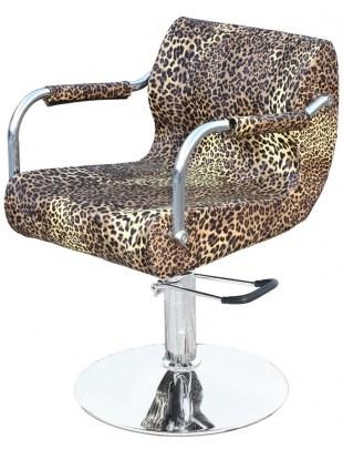 1878 - Fotel fryzjerski FINALE Leopard-nature