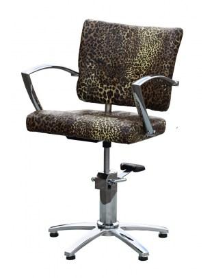 1167 - Fotel fryzjerski NAPOLI Leopard-Nature