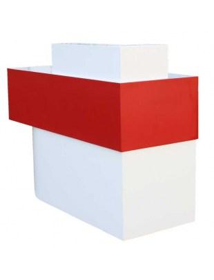 2033 - RECEPCJA SALO lakier piaskowy biało-czerwony