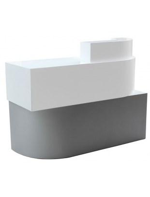 2035 - RECEPCJA ALGHERO lakier piaskowy biało-srebrny