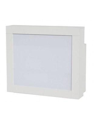 2065 - RECEPCJA z diodą LED, 2 przedziały, kolor biały