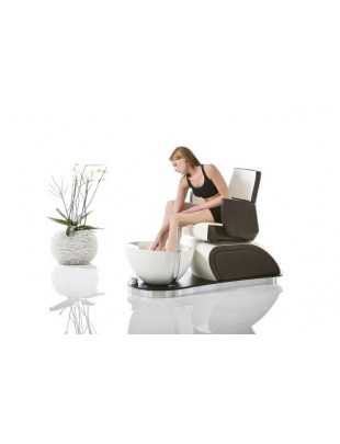 Fotel do pedicure z misą, prysznicem i odpływem wody