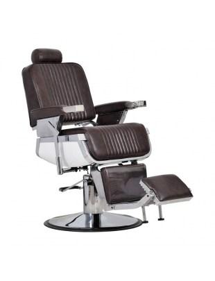 Barber -Fotel fryzjerski męski brąz