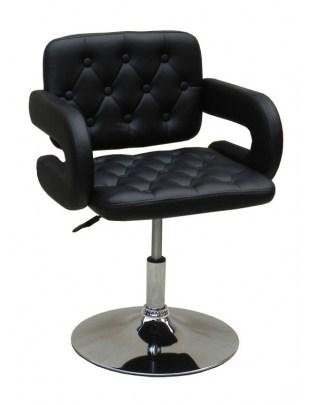 SURF - Fotel fryzjerski czarny