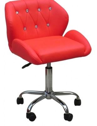ANTONY - krzesło kosmetyczne czerwone