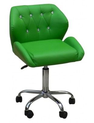 ANTONY - krzesło kosmetyczne zielone