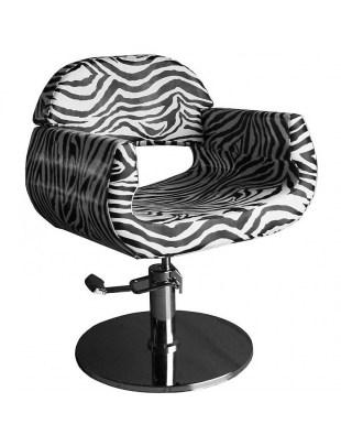 Fotel fryzjerski CIVITAVECCIA - zebra