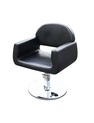 Fotel fryzjerski CIVITAVECCIA - czarny