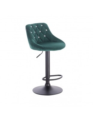 Emilio Cristal - fotel z kryształkami, butelkowa zieleń
