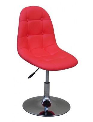 Fotel kosmetyczny HC-1801N CZERWONY