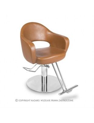 Fotel fryzjerski AVENANT jasny brąz