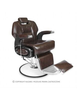 Fotel fryzjerski BARBER ciemny brąz