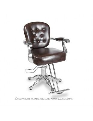 Fotel fryzjerski ANTIQUE ciemny brąz
