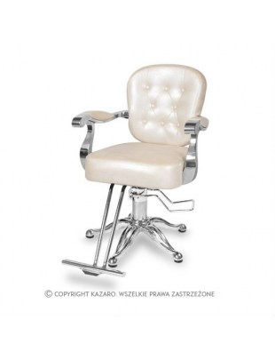 Fotel fryzjerski ANTIQUE kremowy