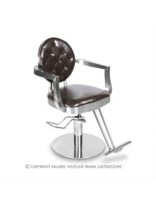 Fotel fryzjerski LOUIS ciemny brąz