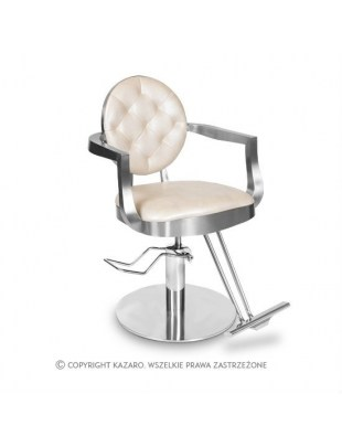 Fotel fryzjerski LOUIS kremowy