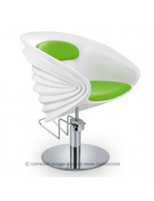 Fotel fryzjerski ORIGAMI zielony